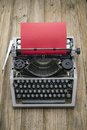 Typewriter close up of an old and red paper Royalty Free Stock Photography
