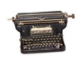 Typewriter isolated old antique vintage on white background Stock Image