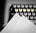 Typewriter keyboard Stock Image