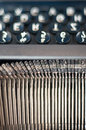 Typewriter letters Royalty Free Stock Photo