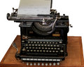 Typewriter old vintage type writer isolated Royalty Free Stock Photo