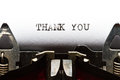Typewriter with text thank you Royalty Free Stock Photography