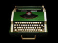 Typewriter vintage isolated on black background Stock Images