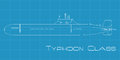 Typhoon Class Submarine Royalty Free Stock Photography