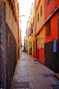 Typical alley in a moroccan town colorful old Royalty Free Stock Photos