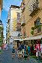 Typical alley in sorrento view of a italy Royalty Free Stock Images