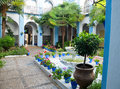 Typical andalusian patio in Cordoba, Andalusia, Sp Royalty Free Stock Photo