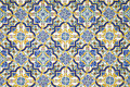 Typical andalusian tiled wall background from a Royalty Free Stock Photography