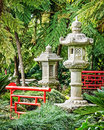 Typical antique japanese stupa park Stock Images