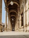 A typical arabic colonnade, portico or peristyle of a mosque I Royalty Free Stock Photo
