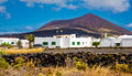 Typical architecture on Lanzarote island. Royalty Free Stock Photo