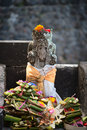 Typical Balinese statue Royalty Free Stock Photo