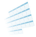 A typical blue business calendar fading into the white background Royalty Free Stock Image