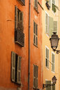 Typical building facade in the old Nice Royalty Free Stock Photography