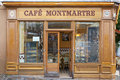 Typical cafe in montmartre paris near sacre coeur france Royalty Free Stock Photos