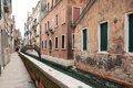 Typical canal of venice with a characteristic bridge italy Royalty Free Stock Images