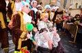 Typical carnival chorus (chirigota) in Cadiz. Royalty Free Stock Photo