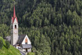 Typical church in south tyrol italy northern Royalty Free Stock Photo