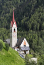 Typical church in south tyrol italy northern Stock Image