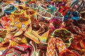 Typical colorful bags wayuu indians sale as souvenirs riohacha colombia Royalty Free Stock Photo