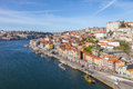 The typical colorful buildings of the ribeira district and the douro river in the city of porto portugal unesco world heritage Royalty Free Stock Images
