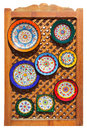 Typical colorful ceramic andalusian plates Stock Photography