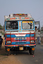 Typical, colorful Indian public bus Royalty Free Stock Photography