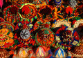 Typical colorful Moroccan hats Royalty Free Stock Photos