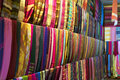 Typical colorful textiles dye in the historic kasbah of fes morocco africa Royalty Free Stock Images