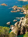 Typical Costa Brava landscape Stock Photos