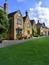 Typical Cotswold Village scene Stock Images