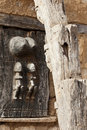 Typical door of Dogon granary, Mali (Africa). Stock Photography