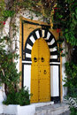 Typical door in Sidi Bou Said Stock Photos