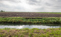 Typical Dutch flat polder landscape in autumn Royalty Free Stock Photo