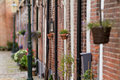 Typical Dutch houses in Elburg Royalty Free Stock Photography