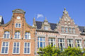 Typical Dutch houses in Haarlem Royalty Free Stock Photo