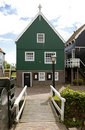 Typical Dutch houses in village Marken Stock Photos