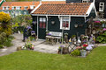 Typical Dutch houses in village Marken Royalty Free Stock Image