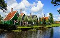 Typical dutch houses zaandam holland picturesque rural landscape with Stock Image