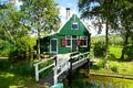 Typical dutch houses zaandam holland picturesque rural landscape with Stock Photos
