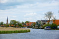 Typical dutch landscape in springtime in the netherlands Stock Photography