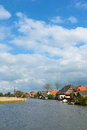 Typical dutch landscape in springtime in the netherlands vertical view Stock Image