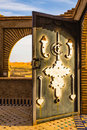 Typical elements of Moroccan architecture Royalty Free Stock Photo