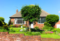 Typical english houses with a garden Stock Image