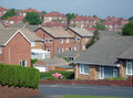 Typical English housing estate Royalty Free Stock Images