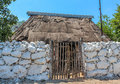 Typical ethnic minorities homes in the yucatan home little towns called pueblos Royalty Free Stock Photography