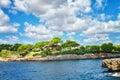 Typical farmhouse on the coast of mallorca island spain Royalty Free Stock Photos