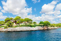 Typical farmhouse on the coast of mallorca island spain Royalty Free Stock Image