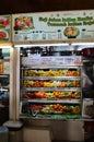 Typical food court, Tekka Market  in Little India Singapore Royalty Free Stock Photo