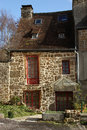 Typical French Stone Cottage Stock Photography